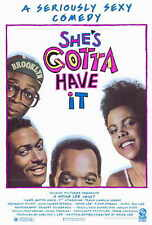 SHE'S GOTTA HAVE IT Movie POSTER 27x40 Tracy C. Johns Spike Lee Tommy Redmond