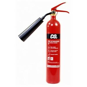 🔥2KG CO2 FIRE EXTINGUISHER, BRAND NEW, CE & BS KITEMARKED, WALL BRACKET & HORN