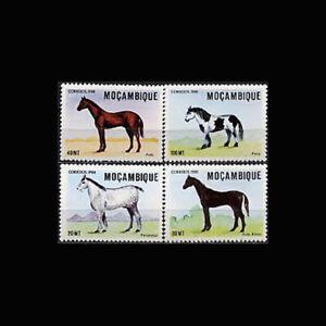 Mozambique, Sc #1056-59, MNH, 1988, Horses, Animals, ISI-C