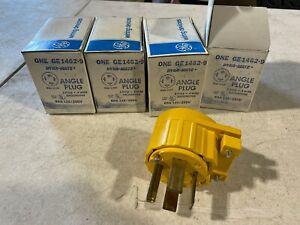 1x GE GE1462-9 Dyna-Mate Angle Plug Yellow 60A 125-250V 3-P 14-60P NOS