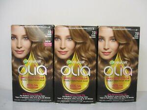 3 Garnier Olia Brilliant Color Permanent 7.0 Dark Blonde Hair Color Jl 13494