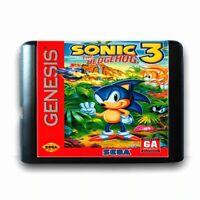 Sonic the Hedgehog 3 (1994) 16 Bit Game Card For Sega Genesis Mega Drive System