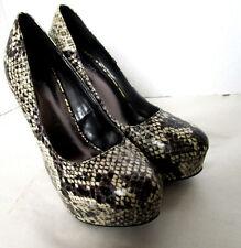 Ladies Charlotte Russe KARISA Snakeskin Pattern Stiletto Heel Shoe Sz 6