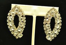 FASHION JEWELRY LARGE SHIMMERING RHINESTONE EARRINGS#COS014