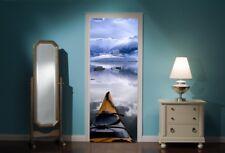 Porte Murale Lac Canoë-kayak Vue Mur Autocollants Décalcomanie Papier Peint 239