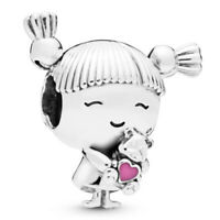 💎Pandora cute girl with Bear cuckoos Pigtails Charm 2019 silver S925 Jewelry