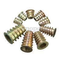 M4/5/6/8/10 Type D W/ Flange Hex Drive Screw In Threaded Insert Nuts For