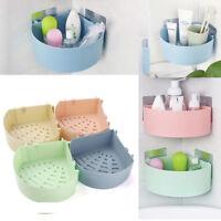 Bathroom Corner Storage Shower Rack Shelf Basket Cup Tidy&Suction Organizer UK