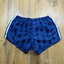 Vintage 80's Adidas Shiny Nylon Shorts Glanz West Germany Size XL D8 (N056)