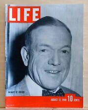 Life Magazine - August 12, 1940 - McNary of Oregon - Joe DiMaggio back cover
