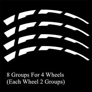 Car Tire Reflective Letter Broken Stripes Sticker Waterproof 4 Wheels Decoration