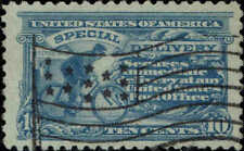 #E10 1916 10c SPECIAL DELIVERY USED--VF/XF--NEAT FLAG CANCEL
