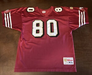 VINTAGE - WILSON - SAN FRANCISCO 49ers - JERRY RICE #80 - YOUTH XL JERSEY