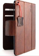 Genuine Full Leather case for apple iPad mini 4 with Credit Card Slots Magn