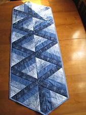 Table Runner Quilted Handmade Patchwork Blue HMJQuiltsPlus