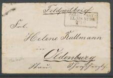 LETTRE FELD-POST/RELAIS N°90/27.6 (Charleville) soldat prussien TB P2344
