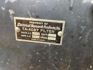 Western Electric TA-4037 TA-4115 Filter Box for Tube Amp, Speaker Microphone