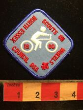 Vtg North Essex Council BSA SCOUTS ON WHEELS Bicycle Bike Boy Scouts Patch S70U