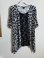 chicos black label 2 Top Leopard And Lace