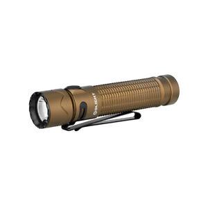 OLIGHT Warrior Mini 2 Desert Tan Rechargeable 1750 Lumens Tactical Flashlight