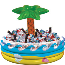 Tropical Palm Tree Inflatable Cooler for Beverages,Ice,Drinks Party Supply Decor
