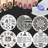 8Pcs Nail Art Stamping Plates Lace Animal Stamp Template W/Stamper Scraper Set