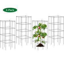 4 Pack Tomato Cages Garden Cages Stakes Plant Trellis 16'' x 16'' x 39''