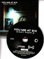 YOU ME AT SIX Night People 2016 UK watermarked & numbered 10-track promo CD