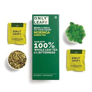 Onlyleaf Moringa Green Made with 100% Whole Leaf, 27 Bags
