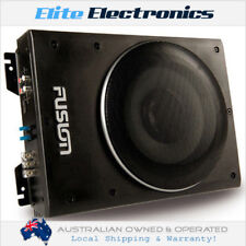 "FUSION CP-AS1080 8"" 600W ACTIVE SLIM LOW PROFILE AMPLIFIED POWERED SUBWOOFER CAR"
