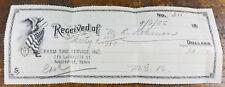 1955 Farm Tire Service Inc 219 LaFayette St Nashville TN Tennessee Paper Receipt