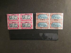 South West Africa 1938 Voortrekker set Stereo Pairs Blk. of 4 Mint Never Hinged.