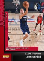 2019-2020 Luka Doncic #132 Panini Instant Makes History w/ 15th Triple Double PS