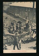 Wales Monmouthshire NEW TREDEGAR Street Procession car dignitaries pre1919 PPC