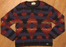Ralph Lauren D&S sud occidentale COTONE maglione Henley blu/rosso XXL RRP £ 110