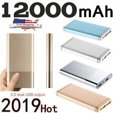 Ultra-thin Portable Power Bank 12000mAh External Battery Charger for Cell Phone