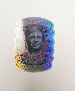 "Bill Gates Stickers HOLOGRAPHIC REFLECTIVE STICKER HEAVY DUTY GA GUIDE STONES 3"""