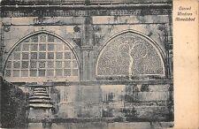 B96019 carved windows ahmedabad  postcard   india