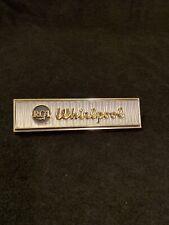 Vintage RCA Whirlpool Appliance Metal Plaque Sign Emblem