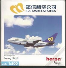Herpa Wings: Manderin Airlines Boeing 747SP   1:500 scale.Art-Nr. 511643