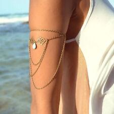 Bronze Turquoise Band Harness Slave Chain Upper Armband Armlet Tassel BOHO