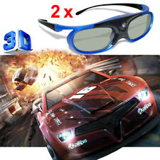 2x Active Shutter 3D Glasses for DLP-Link Universal DLP 3D Projector BenQ Light