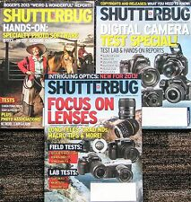 Lot of 3 SHUTTERBUG magazines - May, June & July, 2013