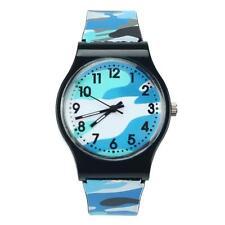 Unisex Kinder Uhr Tarnung Silikon Sport Armbanduhr Analog Quarz Armbanduhr