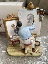 norman rockwell triple self portrait figurine 1982