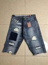 Bound For Glory Denim Patch Shorts Size 38