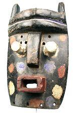 Art Africain Ethnographique Tribal - Masque Grebo - Arrière Tressé - 34 Cms ++++