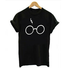 Harry Potter Glasses T-Shirt Casual Fashion Women Simple Print  1PC New S-3XL