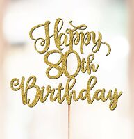 Personalised 80th Birthday Cake Topper Decorations ANY AGE 50th 60th 70th P1388