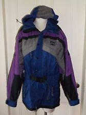 Vtg 80s/90s Boulder Gear XX Solar Lock Hooded SKI COAT Retro COLORBLOCK Jacket